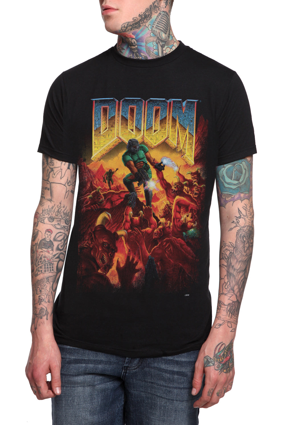 Official Doom Original Cover Mens T-shirt