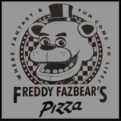 Official Five Nights at Freddy's Fazbears Pizza Mens T-Shirt (Heather Grey)