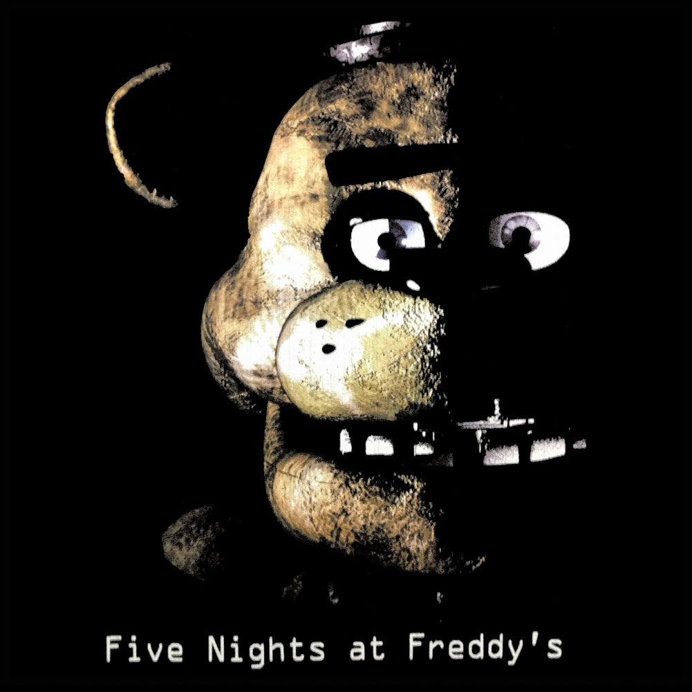 Official Five Nights at Freddy's Logo Mens T-Shirt (Black)