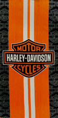"Official Harley Davidson White Stripe Beach & Bath Towel  (30"" x 60"")"