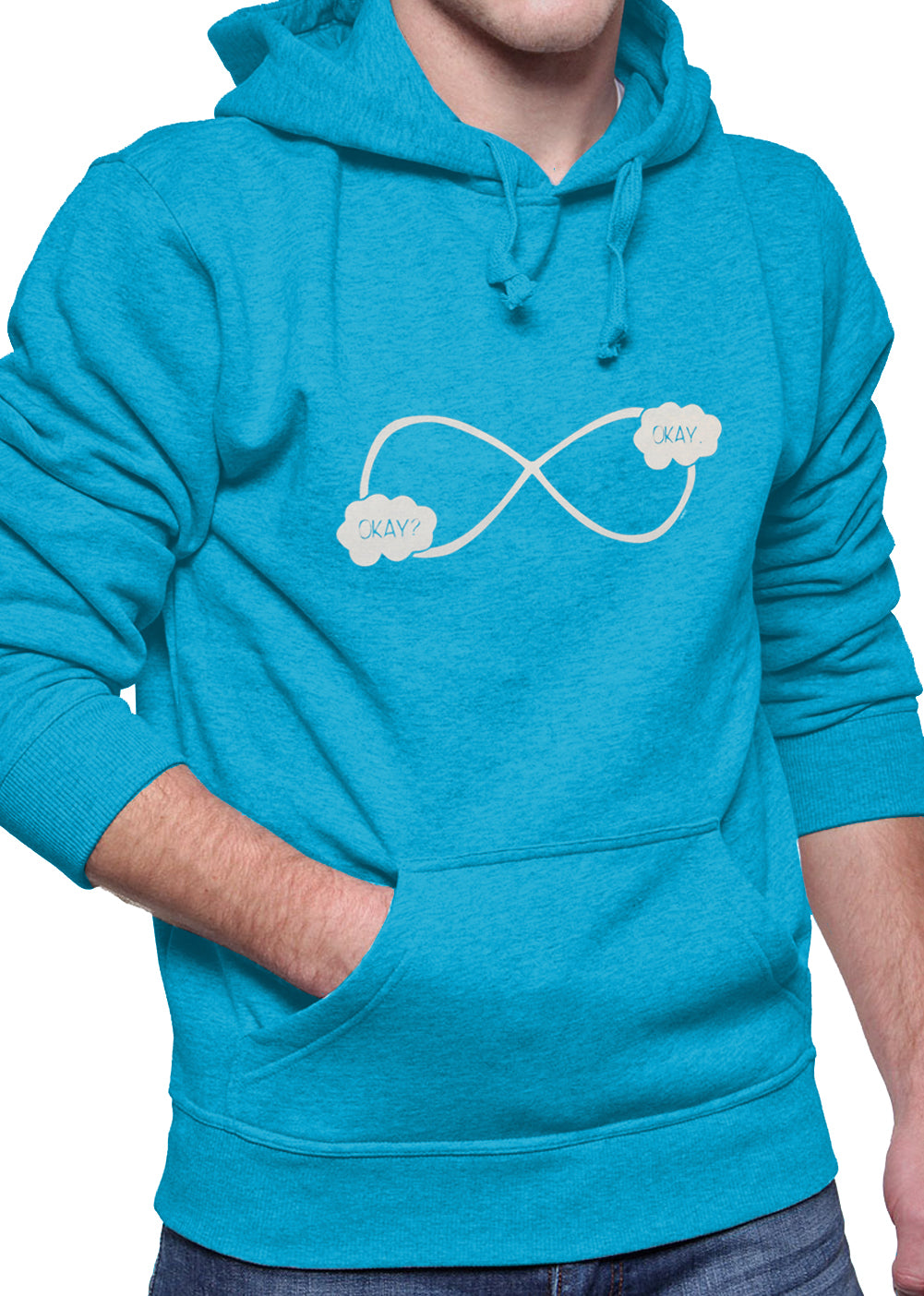 """Okay? Okay."" John Green Quote The Fault in Our Stars Infinity Symbol Adult Hoodie"