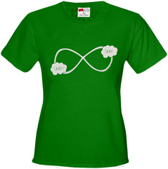 """Okay? Okay."" John Green Quote The Fault in Our Stars Infinity Symbol Girl's T-Shirt"