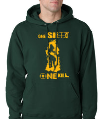 One Shot One Kill Sniper Adult Hoodie