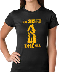 One Shot One Kill Sniper Ladies T-shirt