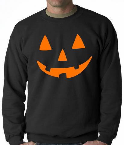 Halloween Sweatshirt - Orange Jack O' Lantern Adult Crewneck