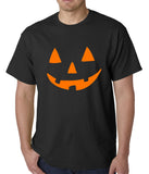 Halloween Tshirt - Orange Jack O' Lantern Mens T-shirt