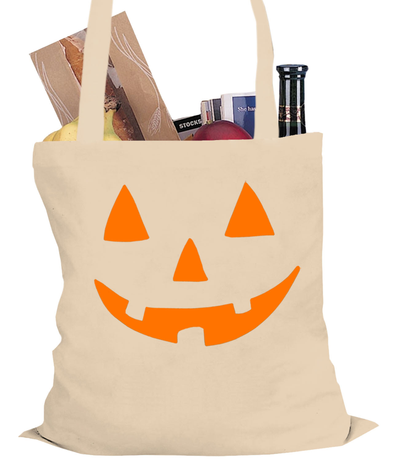 Orange Jack O' Lantern Tote Bag