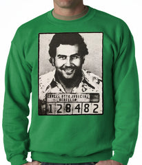 Pablo Escobar Smiling Mug Shot Adult Crewneck