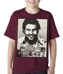 Pablo Escobar Smiling Mug Shot Kids T-shirt