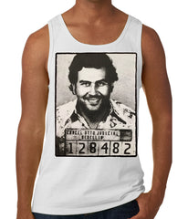 Pablo Escobar Smiling Mug Shot Tank Top