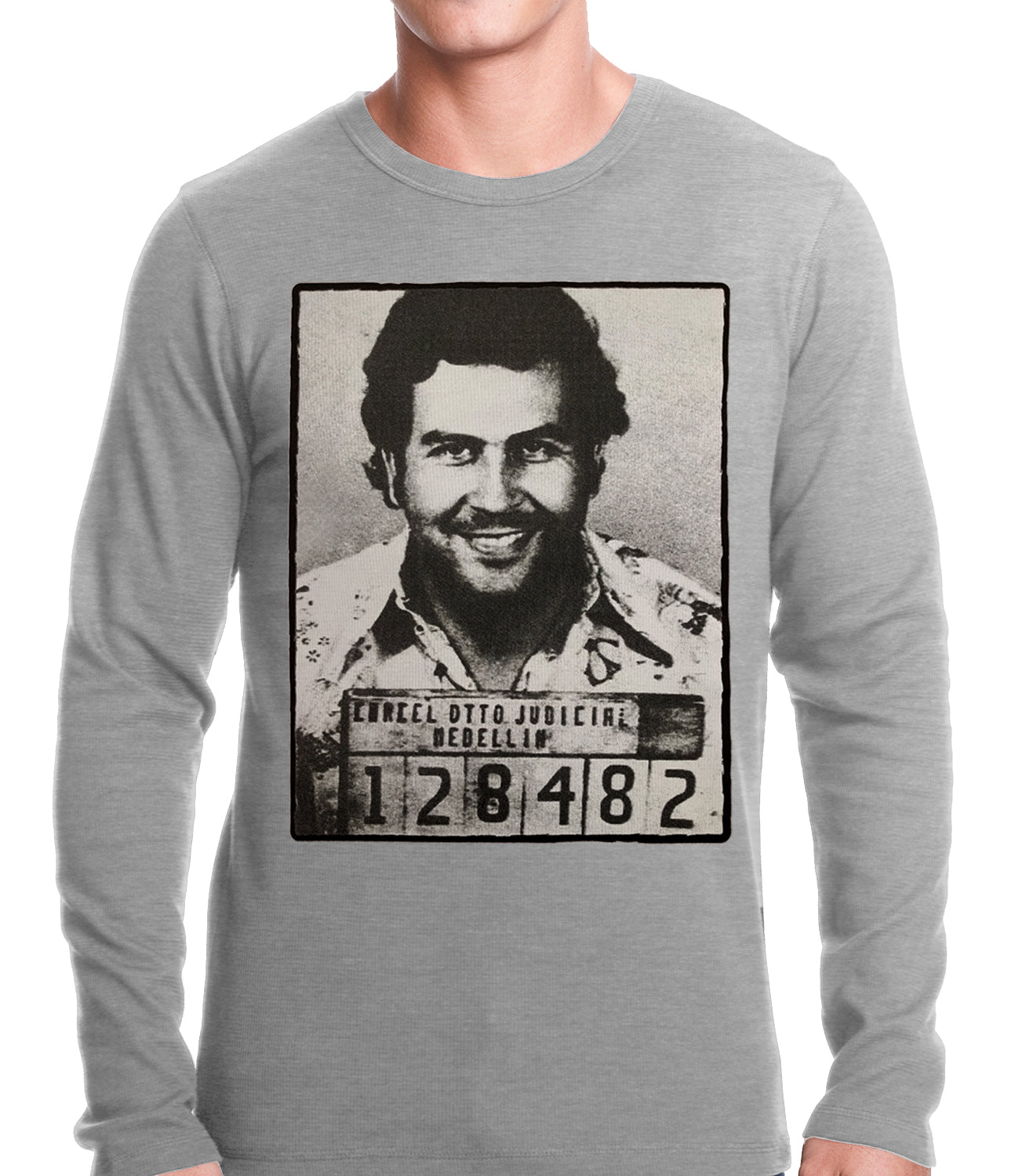 Pablo Escobar Smiling Mug Shot Thermal Shirt