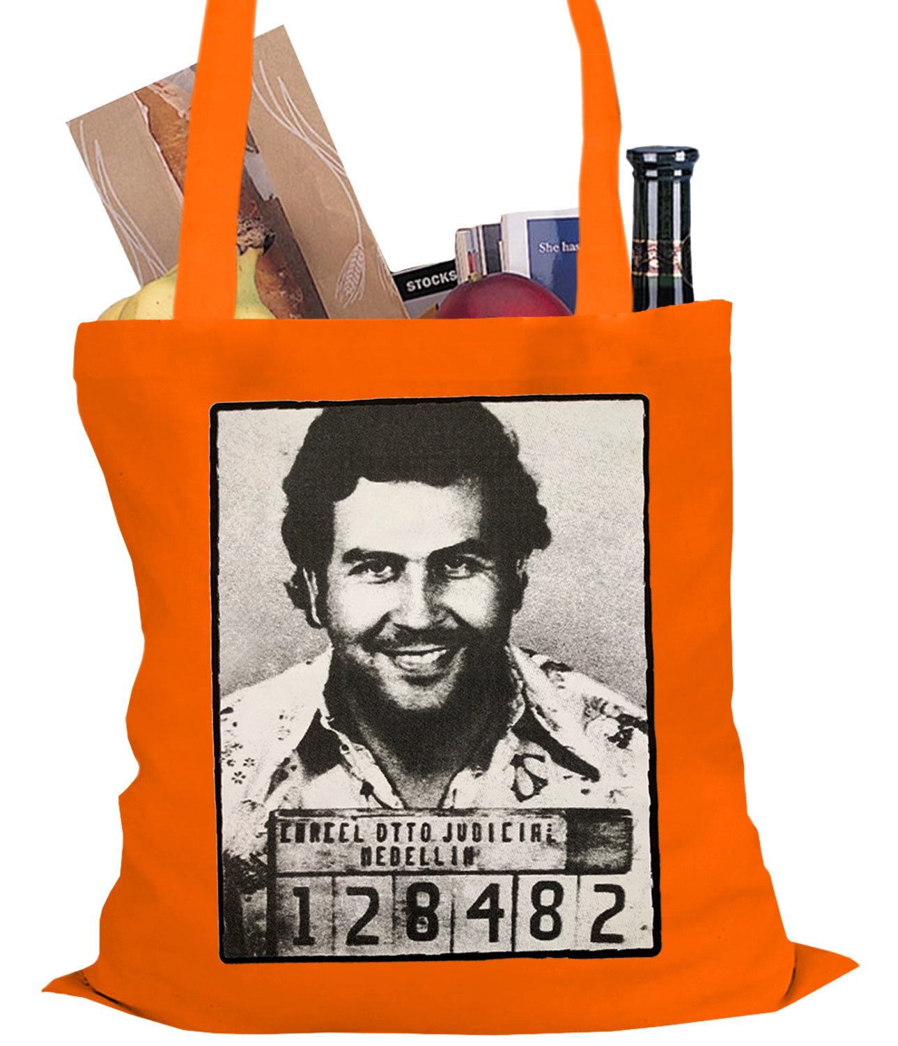 Pablo Escobar Smiling Mug Shot Tote Bag