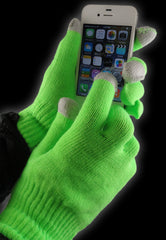 Pair of Neon Texting Gloves