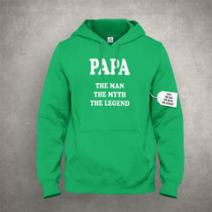 Papa - The Man, The Myth, The Legend Fathers Day Adult Hoodie