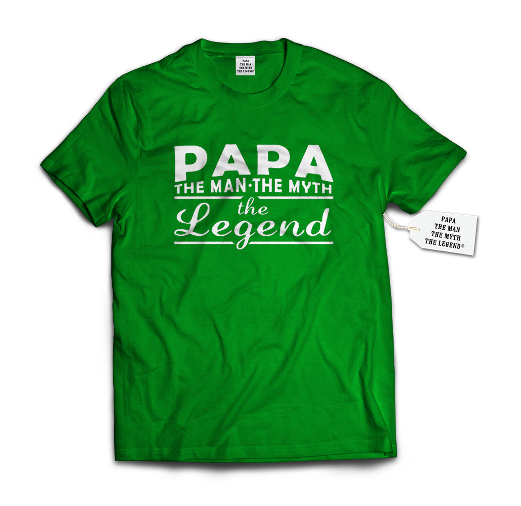 Papa - The Man, The Myth, The Legend® Fathers Day Mens T-shirt #1741