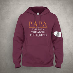 Papa The Man The Myth The Legend® Mens Bewild Hoodie