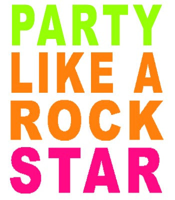 Party Like A Rock Star Girls T-Shirt