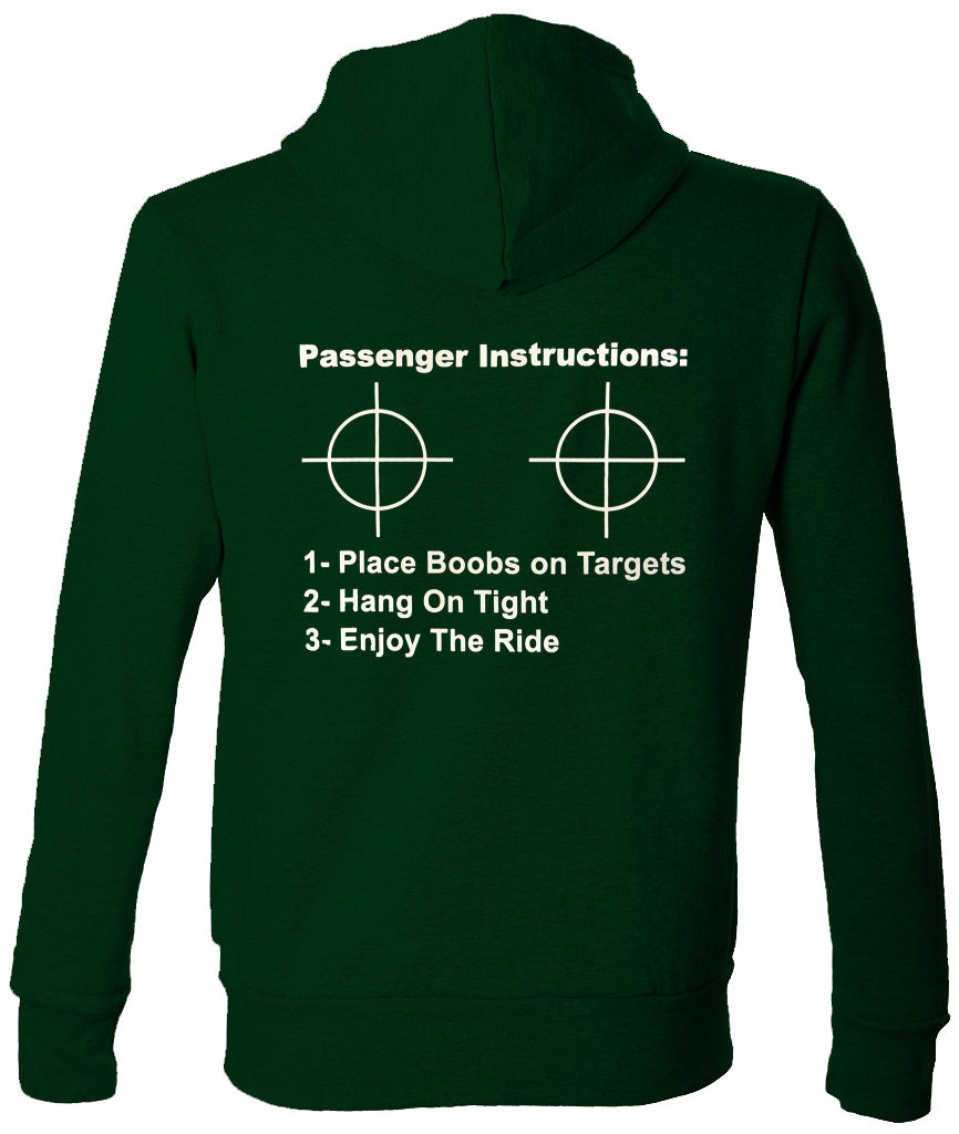 Passenger Instructions Adult Hoodie (Back Print)