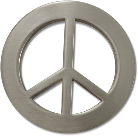Peace Sign Belt Buckle With FREE Leather Belt