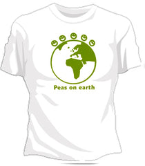 Peas On The Earth Girls T-Shirt