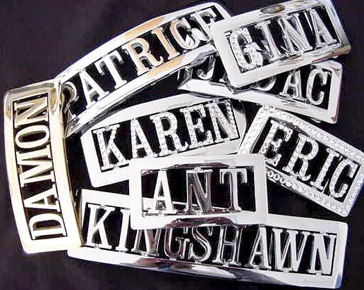 Personalized Custom Name Belt Buckle with Free Belt