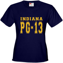 PG-13 George Indiana Girl's T-Shirt (Navy Blue)