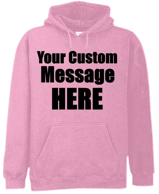 Pink Custom Hooded Sweatshirt