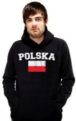 "Poland ""Polska"" Vintage Flag International Hoodie"