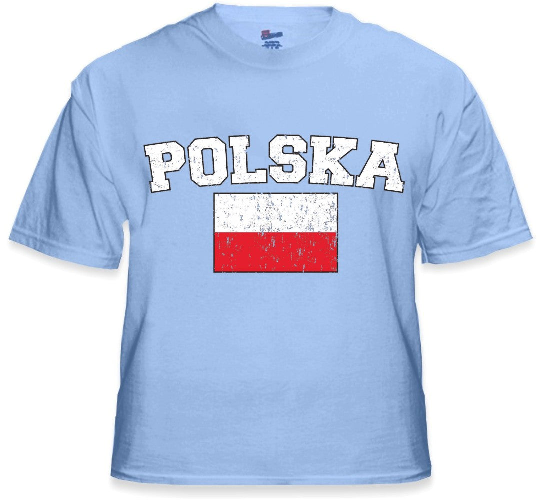 "Poland ""Polska"" Vintage Flag International Mens T-Shirt"