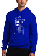 Police Box Phone Booth Tardis Adult Hoodie