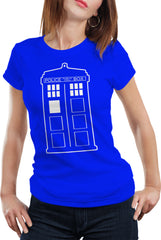 Police Box Phone Booth Tardis Girl's T-Shirt