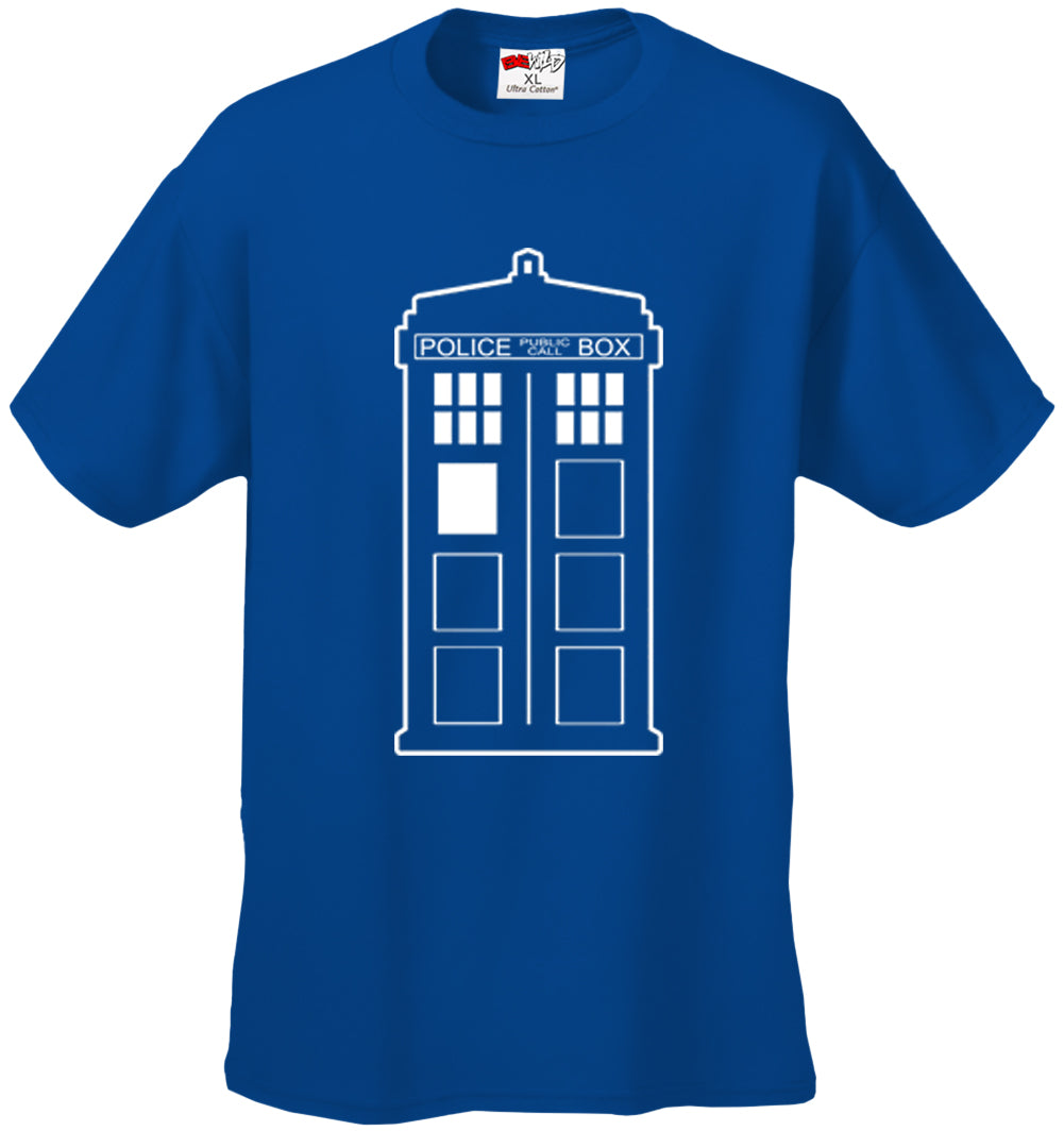 Police Box Phone Booth TARDIS Men's T-Shirt