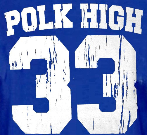 Polk High Al Bundy T-Shirt :: Married With Children Al Bundy Polk High Football Superstar