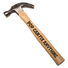 Pop Can Fix Anything DIY Gift Engraved Wood Handle Steel Hammer