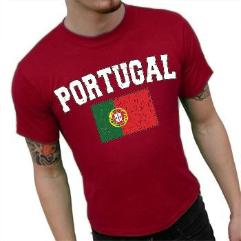 Portugal Vintage Flag International Mens T-Shirt