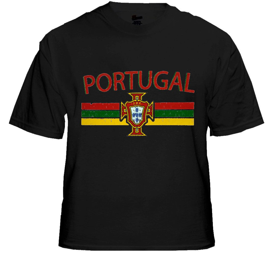 Portugal Vintage Shield International Mens T-Shirt