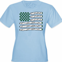 Pot American Flag Girl's T-Shirt