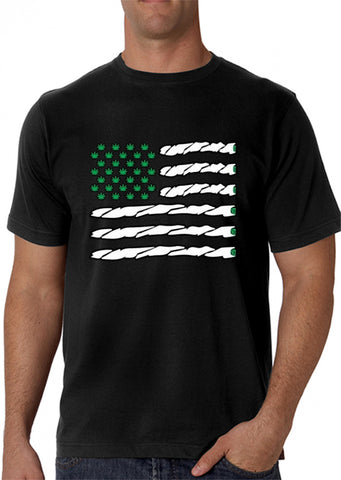 Pot American Flag Men's T-Shirt