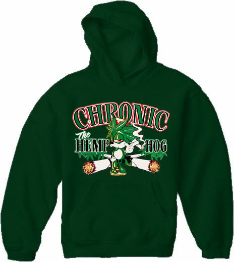 Pot Head Gamer Sweatshirts - Chronic the Hemp Hog Hoodie