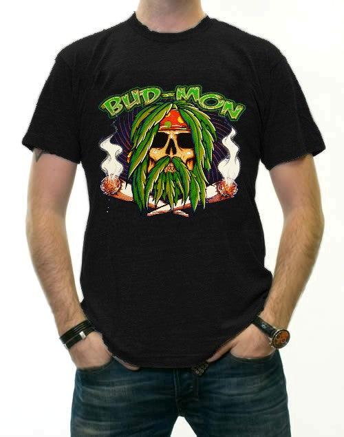 Pot Head & Stoner Tees - Bud Mon T-Shirt