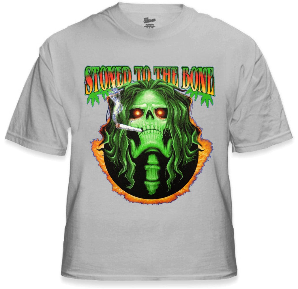 Pot Head & Stoner Tees - Stoned to the Bone T-Shirt