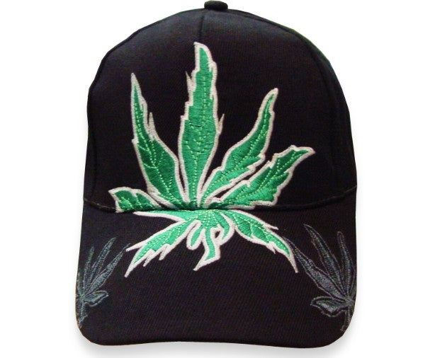 Pot Leaf Baseball Hat (Black)