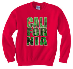 Pot Leaf California Crewneck Sweatshirt
