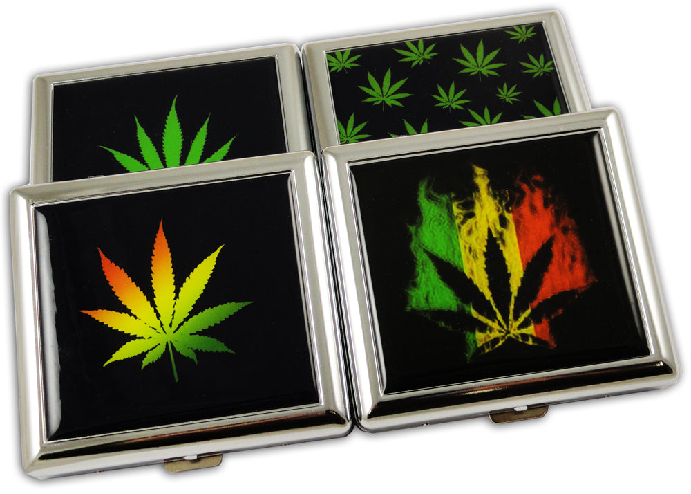 Pot Leaf Cigarette Case (Regular Size Cigarettes)