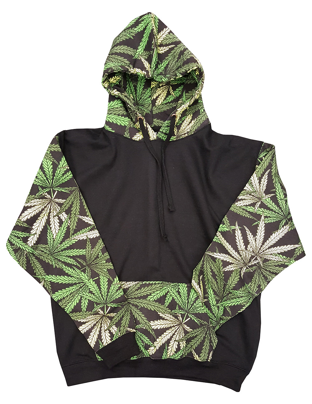 Pot Leaf Collage Adult Hoodie