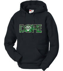 Pot Leaf Dope Diamond Adult Hoodie