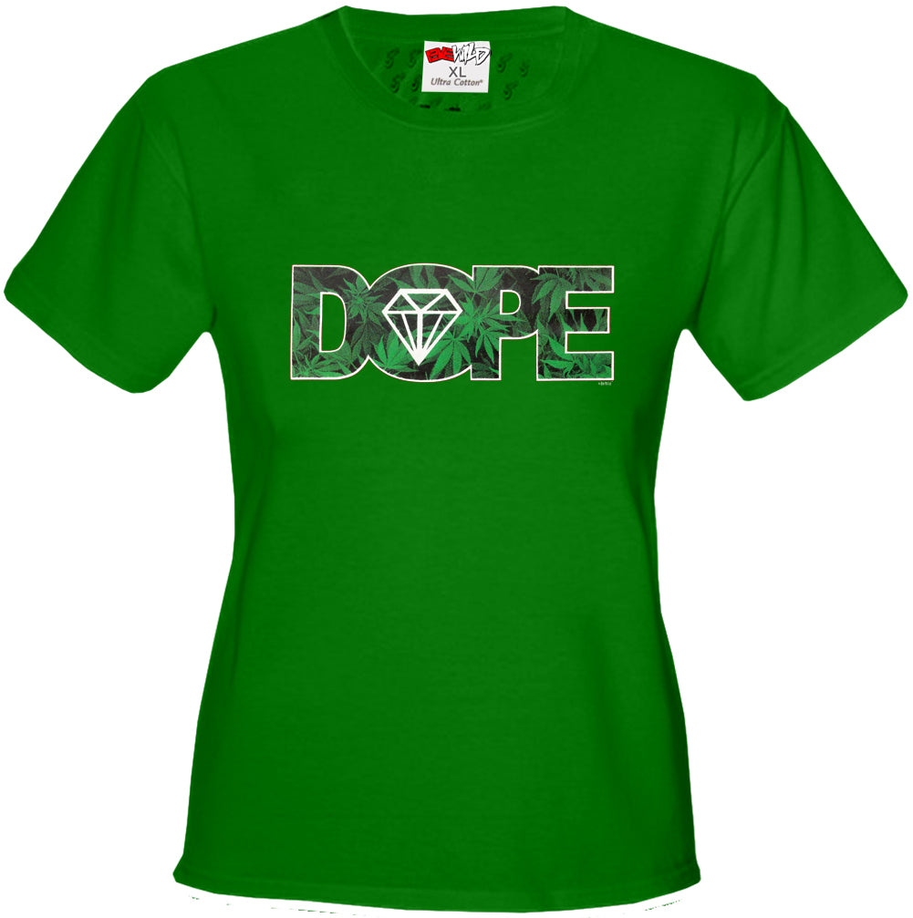 Pot Leaf Dope Diamond Girl's T-Shirt
