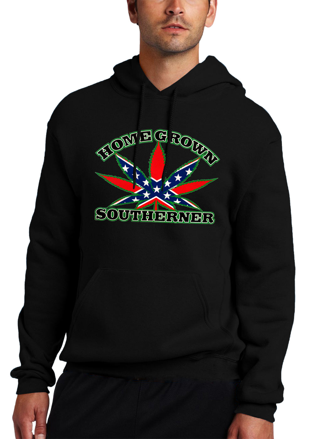 Pot Leaf Home Grown Southerner Adult Hoodie