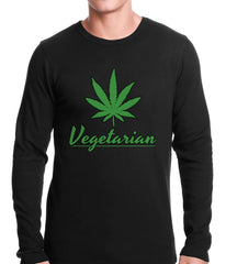 Pot Leaf Vegetarian Thermal Shirt