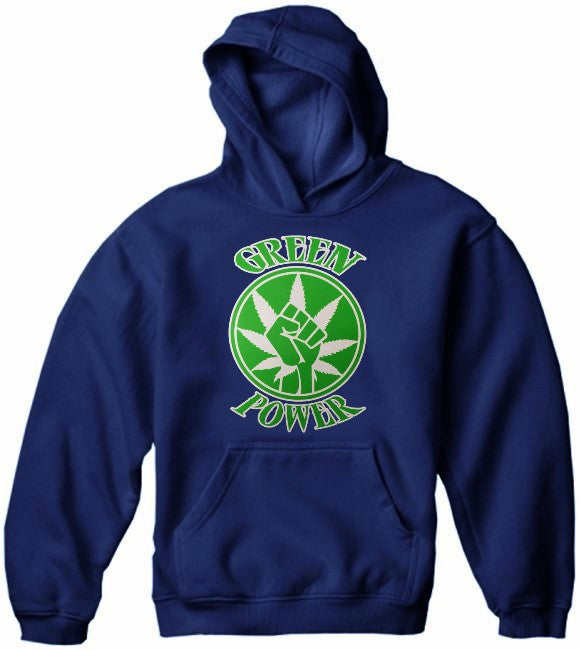 Pothead & Stoner Sweatshirts - Green Power Hoodie